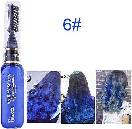 Beito 1 UNID Not tóxico Lavable Tiza para el pelo Tinte temporal para el cabello Tiza para el cabello Tinte para el cabello Rímel para el cabello ...