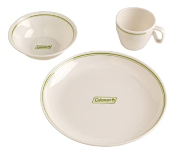 Coleman Melamine Family Dinnerware  sc 1 st  Amazon.com & Amazon.com : Coleman Melamine Family Dinnerware : Camping Mess Kits ...