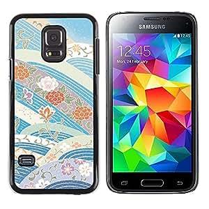 Be Good Phone Accessory // Dura Cáscara cubierta Protectora Caso Carcasa Funda de Protección para Samsung Galaxy S5 Mini, SM-G800, NOT S5 REGULAR! // Sky Flowers Blue Tones