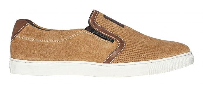 Hachoirs Côte Ouest Chaussures Outlaw Brun Slip-ons En Daim, Farbe: Brun, Größe: 43