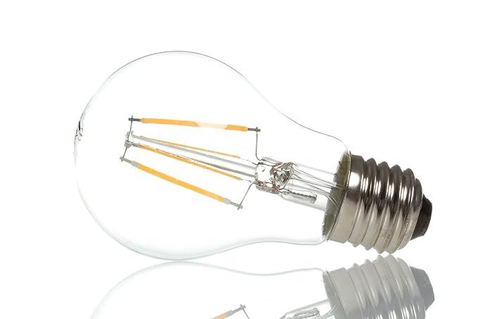 Bombillas LED E27, bombilla tipo filamento, diseño retro, de vidrio, 6W=