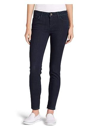 ce51817a9e4 Eddie Bauer Women's Elysian Skinny Jeans - Slightly Curvy, Deep Rinse  Regular 0