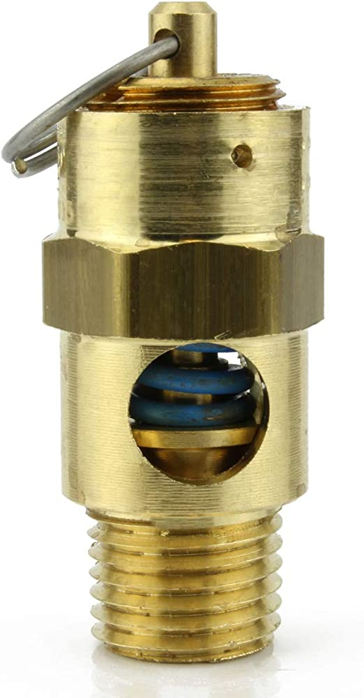 New 1//4 ASME Safety relief Valve 225 PSI American made