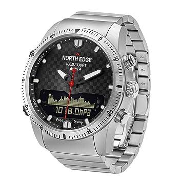 JASSB Hombres Reloj Deportivo, Relojes Inteligentes de los Hombres/Lujo Lleno de Acero Negocio Impermeable 100 Metros/altímetro/brújula: Amazon.es: Hogar