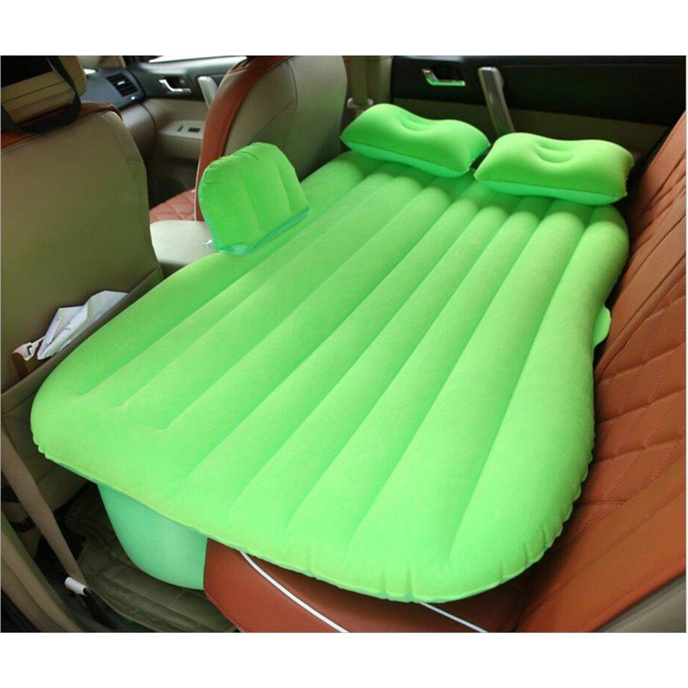 vert  XF Canapé Gonflable de Chaise d'air de Voiture floquée Camping de lit de Matelas pneumatique