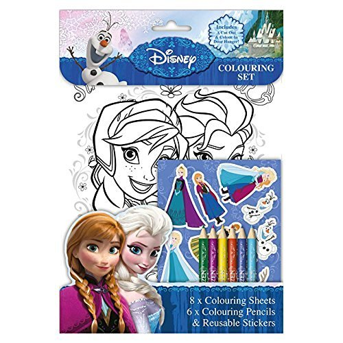 Disney Frozen Colouring Set Sheets Pencils Stickers