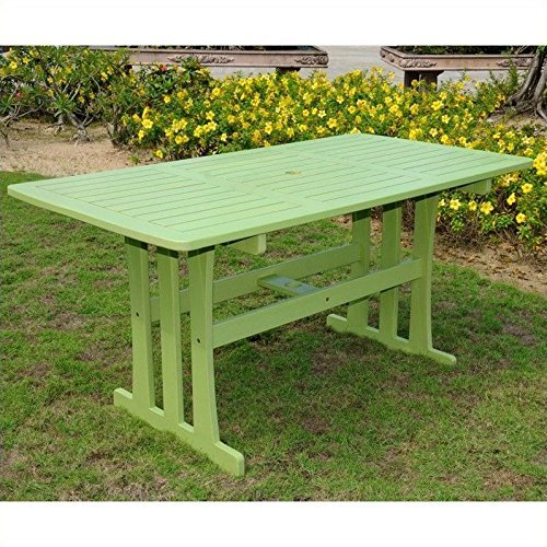 International Caravan TT-RE-07-MGN-IC Furniture Piece Acacia Rectangular Dining Table