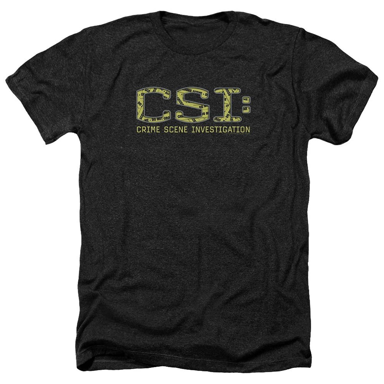 CSI TV Show CBS Crime Scene Tape Collage Logo Adult Heather T-Shirt Tee