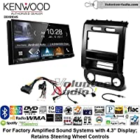 Volunteer Audio Kenwood DDX9904S Double Din Radio Install Kit with Apple CarPlay Android Auto Bluetooth Fits 2015-2016 Ford F-150, 2017 Ford F-250