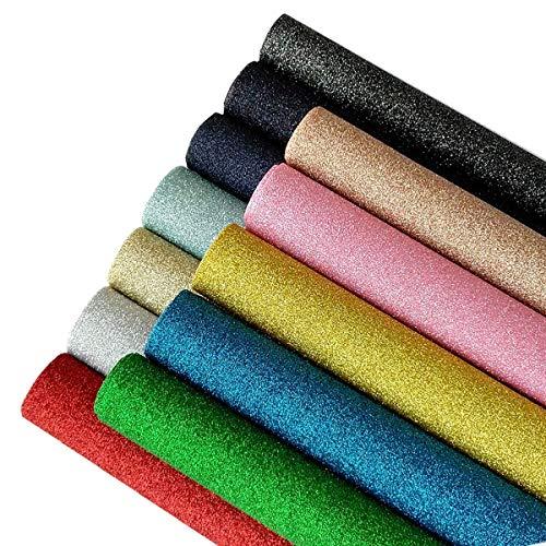 Shiny Glitter Fabric Sheets【12 PCS】【7.5