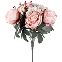 Cipsolu Şakayık Demet Gül Yapay Çiçek AÇIK PEMBE