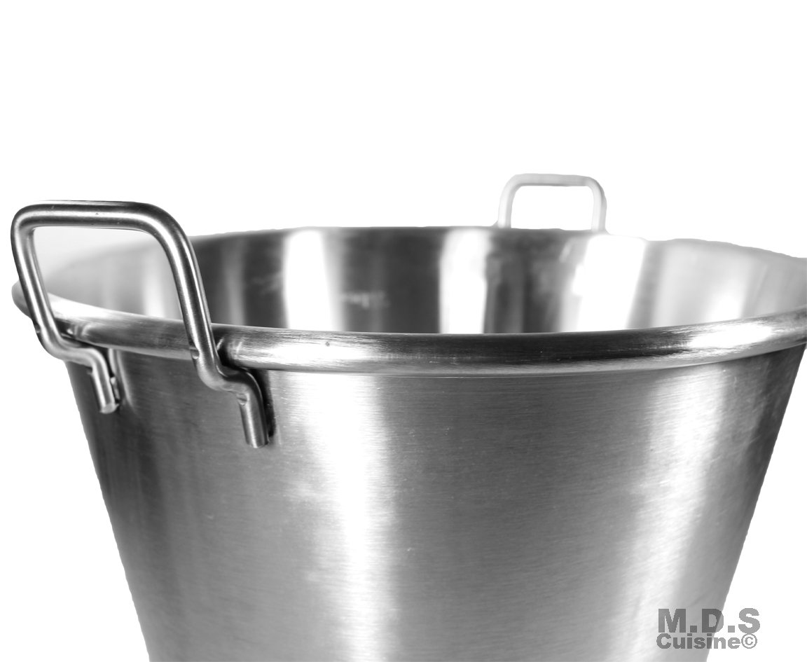Large Cazo Stainless Steel 21'' Caso para Carnitas Gas Heavy Duty Wok Acero Inoxidable by M.D.S Cuisine Cookwares (Image #5)