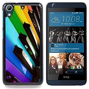 For HTC Desire 626 & 626s - Colorful Piano Keys /Modelo de la piel protectora de la cubierta del caso/ - Super Marley Shop -