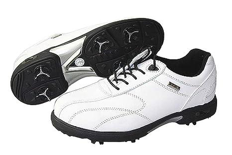 CrivitSports® Damen Golfschuhe - hochwertiges Napaleder - (38, Schwarz)