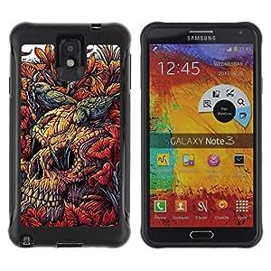 "Pulsar iFace Series Tpu silicona Carcasa Funda Case para SAMSUNG Galaxy Note 3 III / N9000 / N9005 , Floral de primavera Naturaleza Birds Significado"""