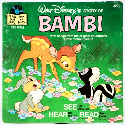 Walt Disney - BAMBI - 24 Page Read-Along Book & Record - OOP - 1972 - #309 - -