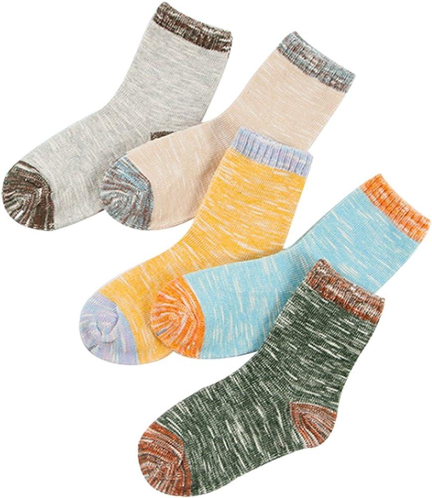 Toddler Baby Boy Girl Socks Kid 5 Pack Cotton Sock Set 1-12t