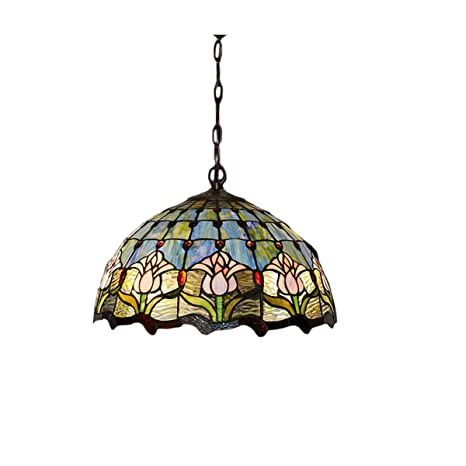 Fumat tiffany pendant lights ceiling lighting fixtures led e26 16 fumat tiffany pendant lights ceiling lighting fixtures led e26 16quot stained glass hummingbird flower color aloadofball Choice Image