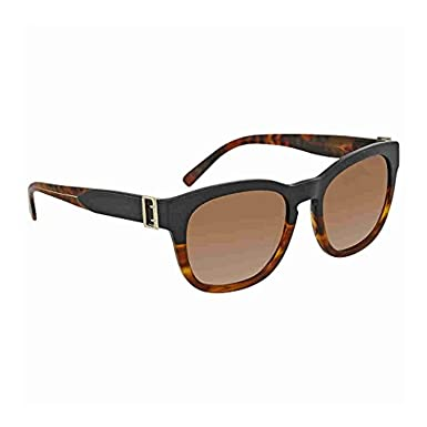 ee77a2d01fd1 Burberry Women s BE4258 Sunglasses Brown Havana Pink   Light Brown Gradient  Grey 54mm at Amazon Women s Clothing store