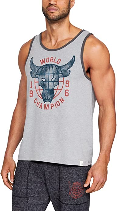 Sureste navegador pasión  Under Armour UA x Project Rock 96 World Champion SM STEEL LIGHT HEATHER:  Amazon.co.uk: Sports & Outdoors