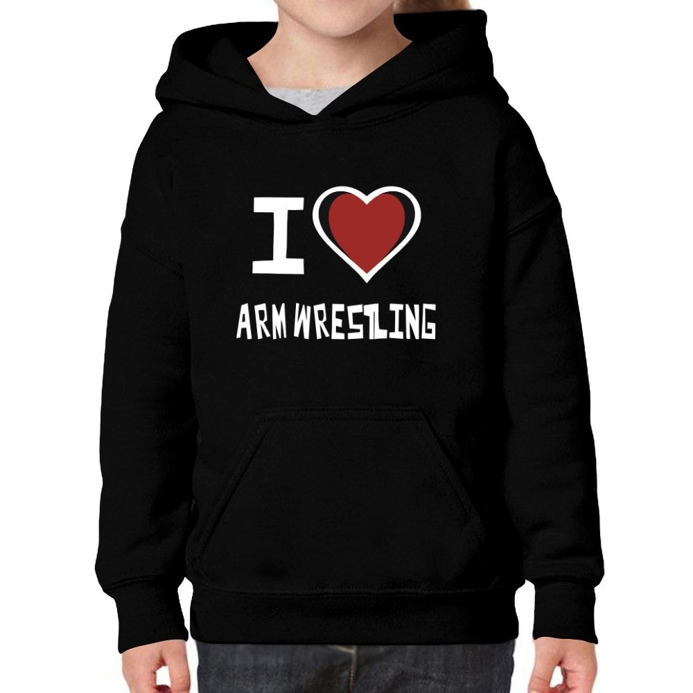 Teeburon I Love Arm Wrestling Girl Hoodie