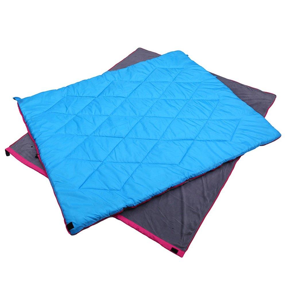LJHA shuidai Umschlag Schlafsack Doppel Liebhaber Schlafsack Outdoor Camping Wandern Baumwolle rechteckigen Schlafsack (180  150 cm)