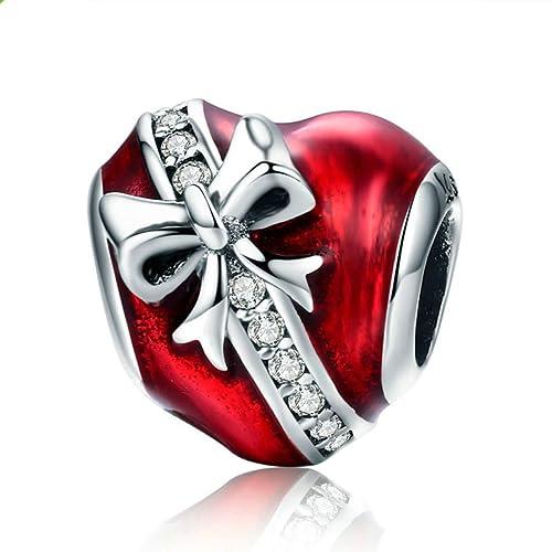 dc12f70447dfa2 Charm in argento Sterling 925, compatibile con braccialetti Pandora. Charm  da donna, idea regalo per lei: Amazon.it: Gioielli