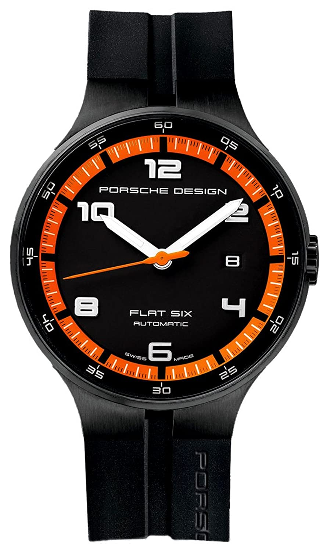 Porsche Design Uhr Flat 6 P'3650 Automatik PVD - Schwarz und Orange