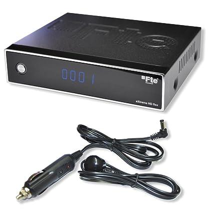 FTE Extreme HD FLEX HDTV receptor satélite con 12 V fuente de alimentación, cable de