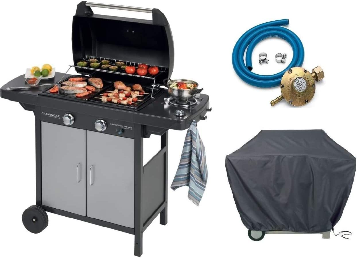 Barbacoa de gas GLP 2 Series Classic Vario EXS Campingaz + Kit regulador + lona