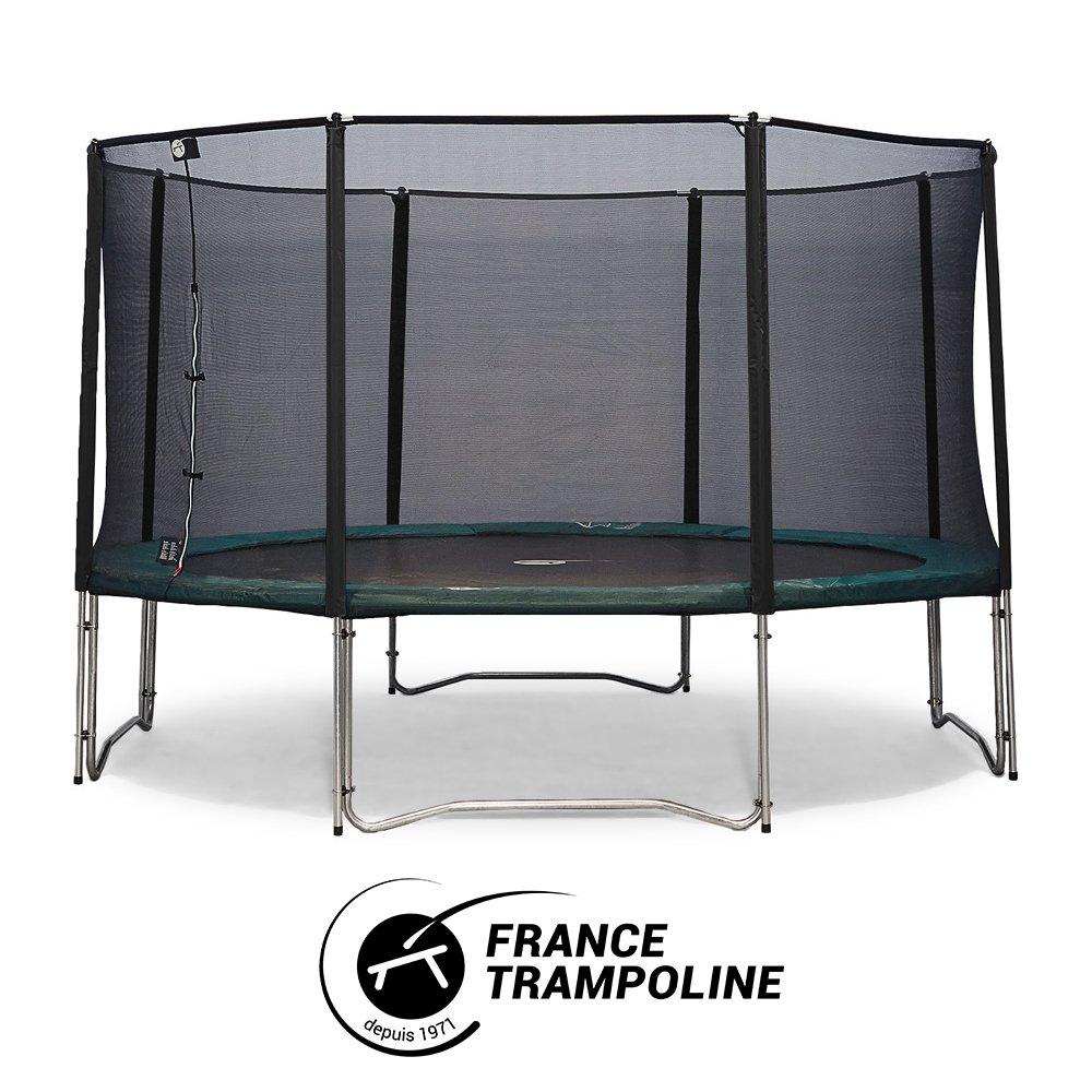 Frankreich Trampolin rund Produktreihe Familial 3 M90 – Jump' Up 390 mit Schutznetz