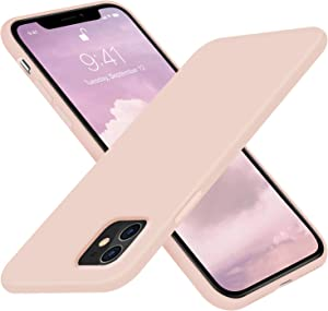 AOTESIER Liquid Silicone iPhone 11 Case,Slim Fit Full Body Protection Shockproof Cover Compatible with iPhone 11,Anti-Scratch&Fingerprint Basic Drop Protection Case (Pink)