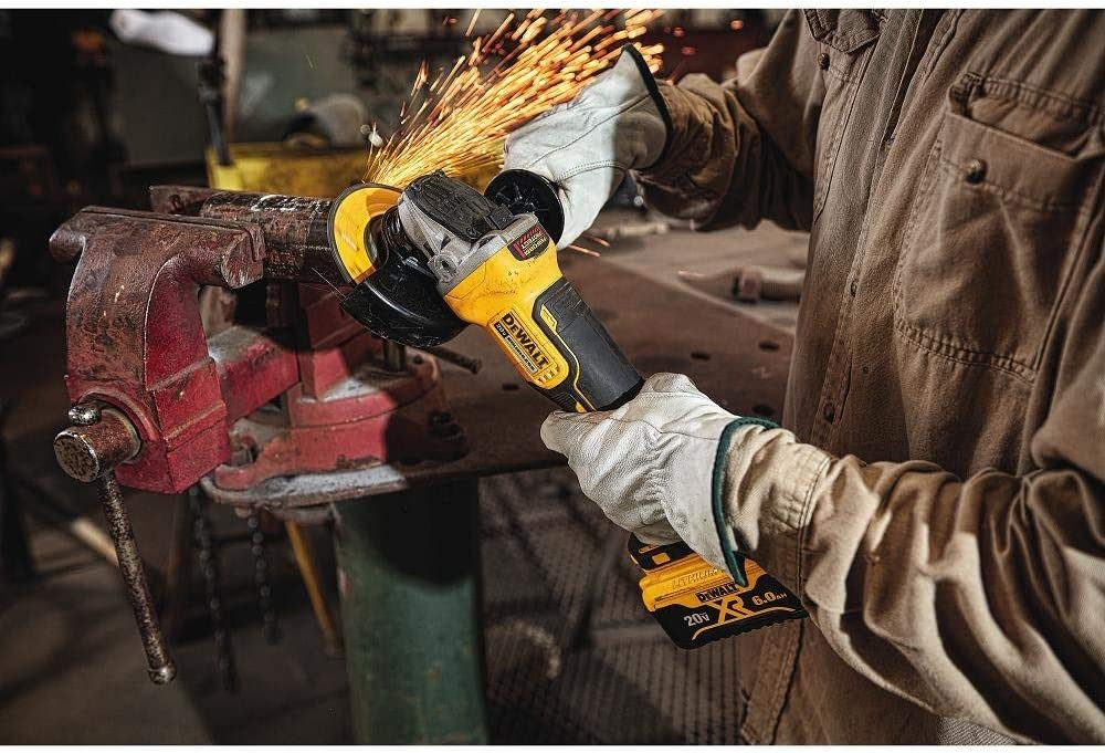 DEWALT DCG413R2R 20V MAX XR 4.5in Brushless Paddle Switch Small Angle Grinder Kit with Kickback Brake Renewed