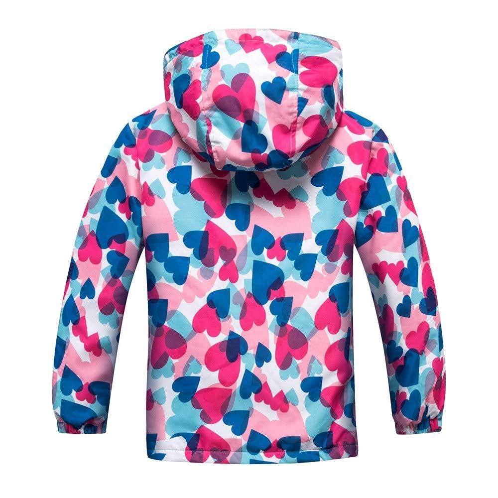 Fartido Children Clothes Kids Outwear Outdoor Waterproof Hoodie Jacket Coat