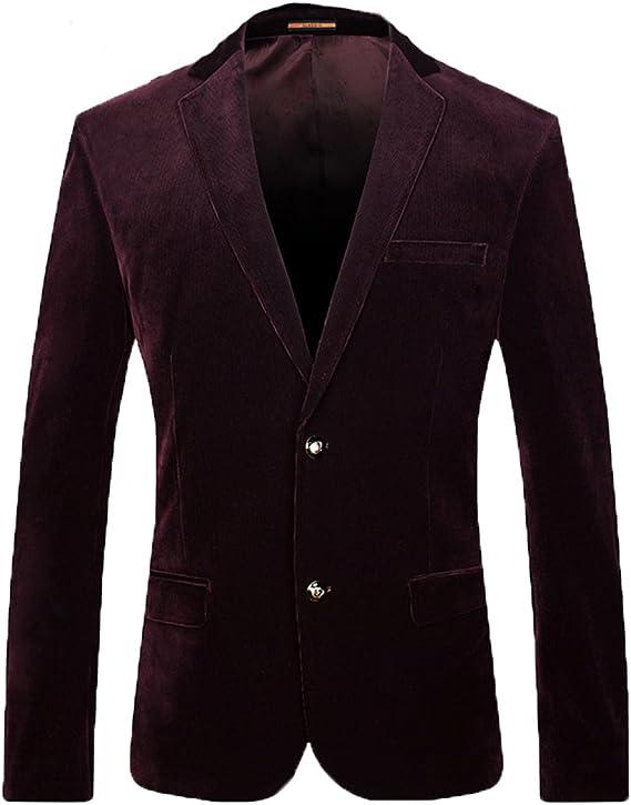 Coat Folobe Velours Hommes Suit Veste Business Blazer TFK1clJ
