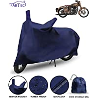 Fabtec Premium Quality Waterproof Bike Body Cover With Heavy Buckle Lock & Microfiber Glove For RE Classic 500--Multicolor