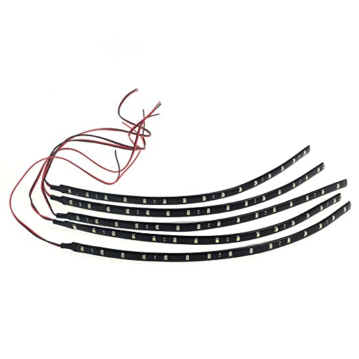 5 opinioni per 5x30CM Impermeabile Striscia Strip 15 LED 3528 SMD Bianco Freddo DC12V per Auto