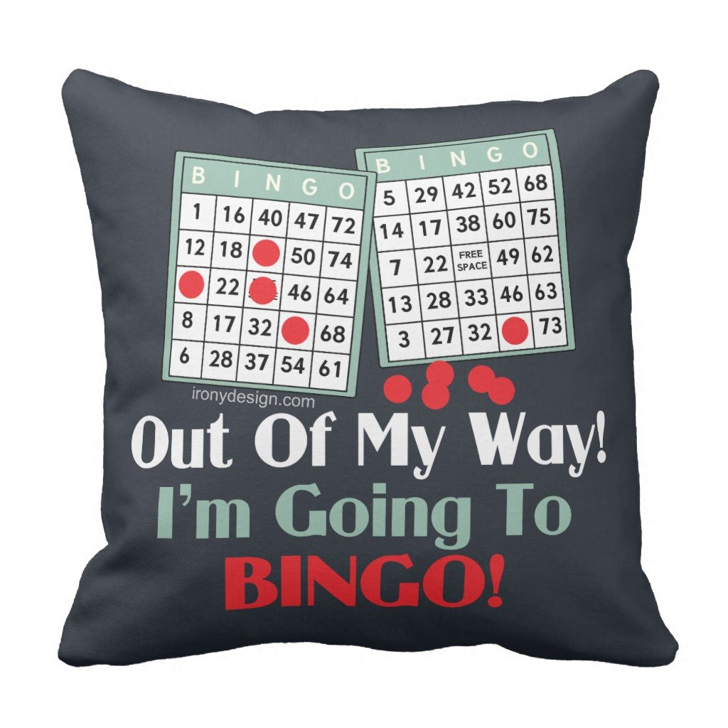 Zazzle Bingo Players Throw Pillow 16'' x 16'' by Zazzle