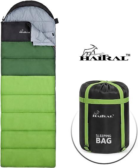 Amazon.com: HAITRAL Saco de dormir portátil ligero ...