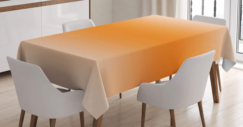 Ambesonne Ombre Tablecloth, Scorching Desert Sunny Hot Summer Season Inspired Design Digital Modern Art Print Image, Rectangular Table Cover for Dining Room Kitchen Decor, 52