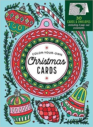 create your own handmade christmas cards 30 cards envelopes to color including 5 pop out ornaments caitlin keegan 9781612129150 amazoncom books