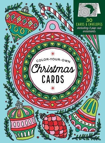 Create-Your-Own Handmade Christmas Cards: 30 Cards  Envelopes to Color, Including 5 Pop-Out Ornaments