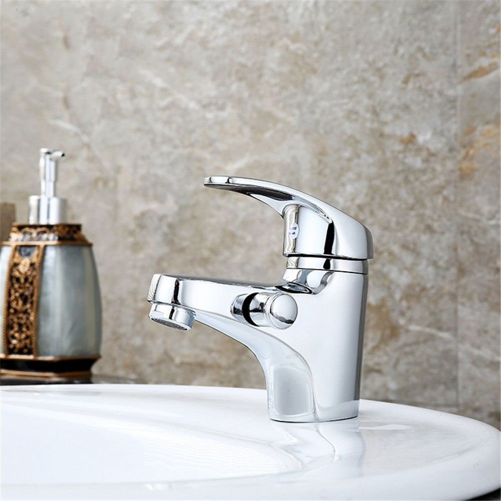 NewBorn Faucet Water Taps Hot And Cold Water The Copper Cold Water Water Tap Single Handle Dual Control Water Tap Basin Single Hole Double-Tap Water.