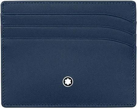 Montblanc Meisterstück – Estuche para Tarjetas de Visita MST Pocket 6 CC Marina Tarjeta de Visita móvil, Color Azul Marino: Amazon.es: Equipaje