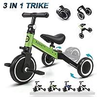 XJD 3 in 1 Kids Tricycles for 1-3 Years Old Kids Trike 3 Wheel Toddler Bike Boys...