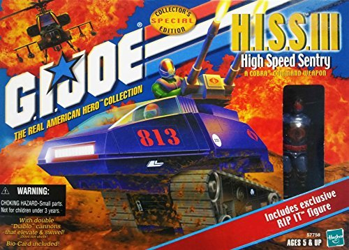 G.I. Joe The Real American Hero Collection - Cobra H.I.S.S. III (HISS) Tank with Rip It Action Figure