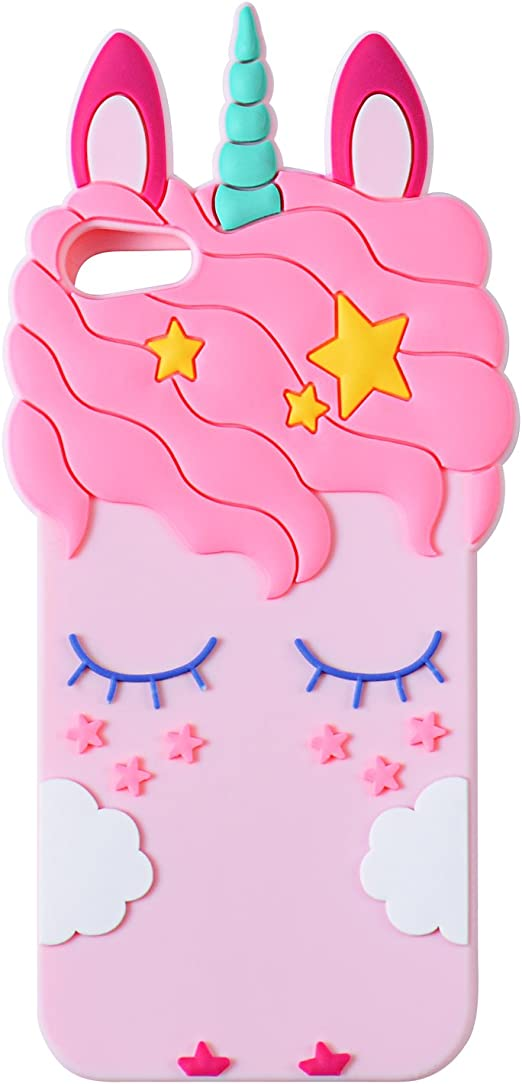 Touch5 Pink Coffee Case for Apple iPod Touch 6th 5th Generation,3D Cartoon Animal Cute Soft Silicone Rubber Character Cover,Food Design Kawaii Fashion Cool Protective Skin for Kids Child Teens Girls