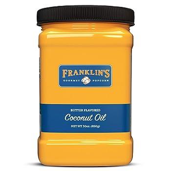 Franklin's Gourmet Coconut Popcorn Oil