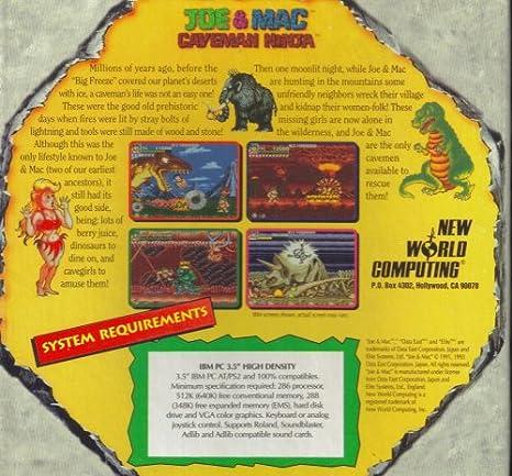 Amazon.com: Joe & Mac: Caveman Ninja [ MS-DOS ~ IBM PC AT ...