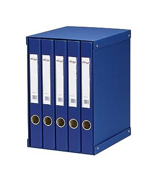 Pardo 924503 - Modulo de 5 archivadores folio, color azul: Amazon.es: Oficina y papelería